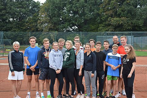 Tenniscamp des Tennisteams